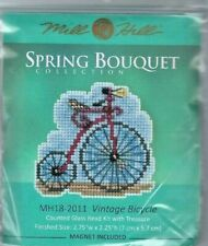 Vintage Bicycle Glass Bead Kit Spring Series Mill Hill Cross Stitch