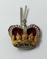 Genuine Vintage British Military Issue St Edwards Crown Metal Badge Major Rank