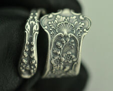 Beautiful 925 Sterling Silver Flower Spoon Ring