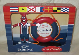 Carnival Cruise Line Picture Frame Rubber Mascot Fun Ship Vacation Travel NEW