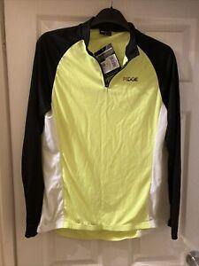 Ridge Ladies Cycling Long sleeve Jersey / Hi Vis Yellow Size 16 BNWT