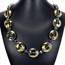 Aceite de oliva fuego místico Collar De Cristal Hecho A Mano Perlas Bisutería Reino Unido Regalo Idea