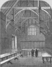 THE HOLBORN INNS OF COURT AND CHANCERY. The Hall of Gray's Inn. London c1880
