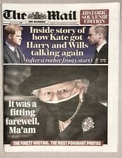 More details for the mail rare newspaper - prince philip funeral - historic souvenir - 18th 2021