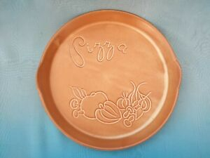 Vintage ~ Glazed Terracotta Pizza Dish