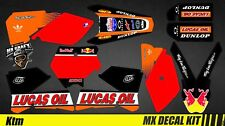 Kit Déco Moto / Mx Decal Kit Ktm SX 50/65/85 - Lucas Oil Black
