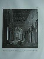 1845 Zuccagni-Orlandini Interno della Cattedrale di Monreale in Sicilia