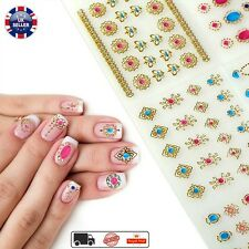 24 Sheet Gold Stamping Stickers For Nails Diy Beauty Design Bronzing 3D Nail Art