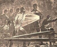 Civil War Rebel Soldiers with Lanterns Winslow Homer 1862 historical print