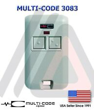(1) MultiCode 3083 Remote Garage Door Mini Transmitter 300mhz 3089 4120 1090