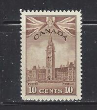 "CANADA -  257-260 - MH/MNH -  1942-1943 - PARLIAMENT BUIL,DING, ""RAM"" TANK, SHIP"