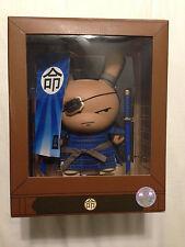 "Blue Shogun Dunny - 8"" by Huck Gee and Kidrobot limted 300 pcs"