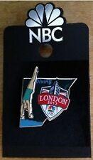 Olympic Sponsor Pin~Media~NBC~London~2012~Diving~Slider~Shield~Big Ben~3D