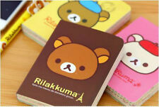 San-X Rilakkuma Relax Bear Pocket Mini Lined Notebook with color inside pages