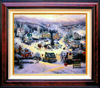 Thomas Kinkade St. Nicholas Circle 12x16 Classic Edition Framed Canvas Saint