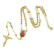 Delicate Antique Style 9K Yellow Gold Filled The Virgin Mary Cross Necklace
