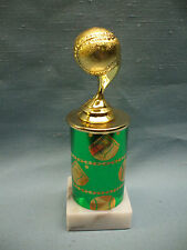 Baseballtrophy green theme column marble base ball topper