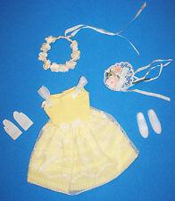 Vintage Skipper Doll Yellow FLOWER GIRL #1904 Japan Shoes Bouquet Garland 1964