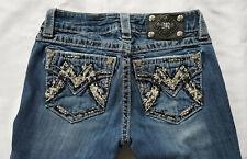 Miss Me Jeweled Pocket Bootcut Denim Jeans 26 x 34 Style JM1232B