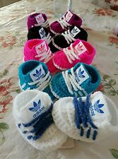 Handmade crochet baby shoes for baby girls and boys from 0-3months