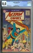 ACTION COMICS #210 CGC 8.0 OW PAGES // GOLDEN AGE BATMAN + LUTHOR