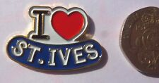 I Love St Ives Enamel Badge / Fridge Magnet - heart