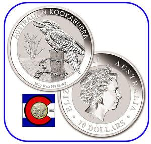 2016 Australia Kookaburra 10 oz. Silver Coin - BU direct from Perth Mint