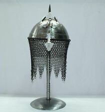 Indo Persian Ottoman Rajput Islamic Soldier Helmet Armour with Stand Decorative