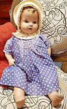 "Vintage Antique 1920s Composition Doll 20"" Cloth Body"