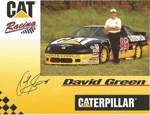 David Green Autographed 8x10 Postcard Caterpillar Busch Series L@@K