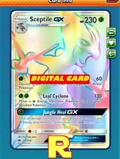 RR Sceptile GX - Rainbow - for Pokemon TCG Online (DIGITAL ptcgo in Game Card)