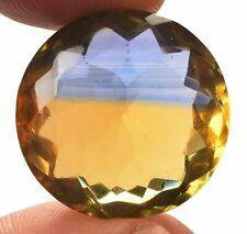 43.95 Cts. Natural Ametrine Blue & Yellow Round Cut Certified Gemstone