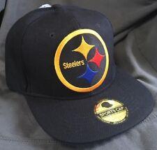 Pittsburgh Steelers Black FlatBill SnapBack STEELERS NATION Hat NEW Cap
