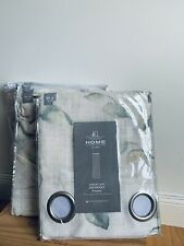 New 4 Panels of JCPenney Home Grommet-Top Curtain Beautiful Sage Sheer 50 x 84