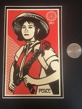 Vintage Shepard Fairey Revolutionary Girl Sticker From Print Obey Giant