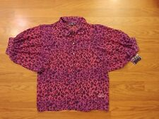 HELLO KITTY Womens shirt Size XS NWT Loose pink purple top blouse