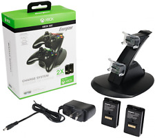 Dual Charging Station Stand Fast Charge Base Holder For XBOX 360 Controllers