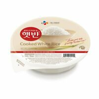 CJ Hetbahn Cooked White Rice, Gluten-Free, Vegan, Microwaveable 2/4/6 EA