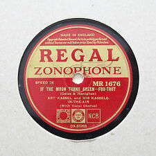 """ART KASSEL & HIS KASSELS IN THE AIR """"If The Moon Turns Green"""" REGAL [78 RPM]"""