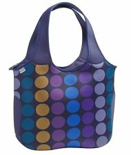 BUILT NY Essential TOTE Bag Carrier NEOPRENE Large BLUE DOTS Laptop Office