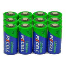 12 CR123A Battery 3V Li/MonO2 Batteries 123A DL123A for Camera Flashlight PKCELL