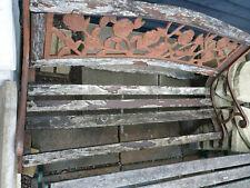Metal Garden Bench - Wood Will Need Replacing
