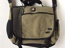 SWISSGEAR Wenger Canvas Messenger Laptop Bag ~ Olive Green School Book Bag