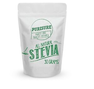 Purisure All Natural Stevia Powder, Pure Extract Sweetener, 30g (203 Servings)