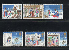 GREAT BRITAIN #709-714  1973  CHRISTMAS  F-VF  USED   q