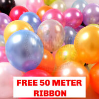"100 PCS HELIUM Pearlised Latex Balloons 10"" Wedding Birthday Party Theme balloon"