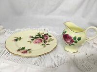 "VINTAGE Royal Albert ""English Beauty"" Plate Matched With Royal Stuart Milk Jug"