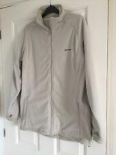 ladies Craghoppers ivory zip up fleece jacket size 16 vgc