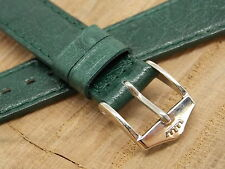 NEW OLD STOCK unused Mint Ladies Fortis green watch band 14mm Silver tone buckle