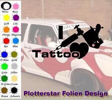 I Love Tattoo nr3 JDM Sticker Aufkleber Geil Fun Maschine Autoaufkleber